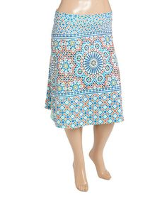 Look what I found on #zulily! Mint & Pink Geometric Skirt - Plus…