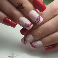 50 Awesome Coffin Nails Designs Flip For in 2019 Cute Acrylic Nail Designs, Manicure Nail Designs, Valentine's Day Nail Designs, Cute Acrylic Nails, Matte Nails, Nail Manicure, Fun Nails, Nails Design, Elegant Nails