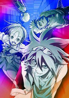 Tags: Anime, Official Art, Daimon Kaito, Phi Brain: Kami No Puzzle, Itou Nonoha
