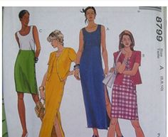 McCalls Sewing Pattern 8799 Misses 10,12,14 Unlined Jacke…