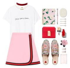 """""""Once Upon A Dream..."""" by miee0105 ❤ liked on Polyvore featuring Gucci, MANGO, Chloé, Charlotte Russe, ban.do, Montegrappa, Diptyque, Carolee, Petite Amie and Chanel"""