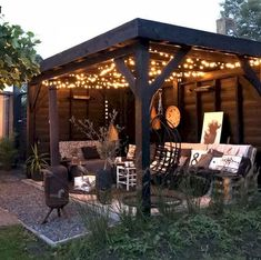 Steel Pergola Attached To House - - - - Retractable Pergola Videos - Pergola Garten Wand Outside Gazebo, Backyard Gazebo, Backyard Patio Designs, Pergola Patio, Backyard Landscaping, Backyard Ideas, Pergola Kits, Cozy Patio, Backyard Makeover