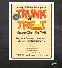 Trunk or Treat Halloween Event Flyer  by jjinspirationstudio