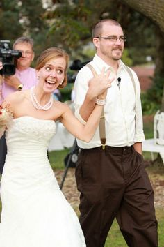Daughters 1940's Vintage Style Wedding: Love this expression... He's Mine<3