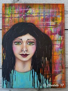 Adanne Mixed media girl by Charlotte Brondijk