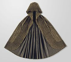 Woman's Cape with Hood, France, ca. 1780-1790, Overprinted resist-dyed cotton