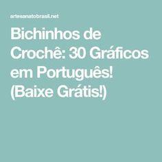 Bichinhos de Crochê: 30 Gráficos em Português! (Baixe Grátis!) Cactus Amigurumi, Little Bit, Baby Groot, 30, Diy And Crafts, Clothes, Crochet Heart Patterns, Crochet Stuffed Animals, Embroidery Patterns Free