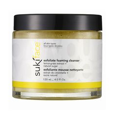 FAAAAAAAAANTASTIC facial scrub! I only recommend it once a week, as the natural sugar is a little rigorous. Smells delicious & feels wonderful! The next day I woke up with smooth, even-toned, glowing skin! Will be using this more, probably will buy it full-size. Suki Exfoliate Foaming Cleanser