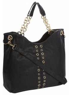 Black Eyelet Slouch Shoulder Bag - £19.99  #fbloggers #baglove #internacionale #fashion #style #ootd Rebecca Minkoff, Ootd, Shoulder Bag, My Style, Bags, Fashion, Handbags, Moda, Fashion Styles