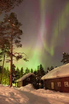 Northern Lights in Rovaniemi, Lapland, Finland