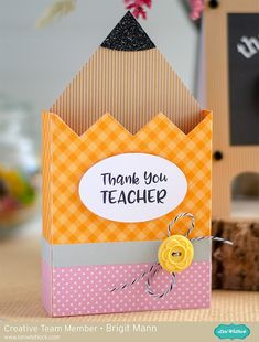"""Brigit's Scraps """"Where Scraps Become Treasures"""": Teacher Thank You Cards - Lori Whitlock Creative Team Project Teacher Thank You Cards, Teachers Day Gifts, Handmade Teachers Day Cards, Your Teacher, Cards For Teachers Day, Teachers Day Decoration, Student Gifts, Kids Crafts, Diy And Crafts"""