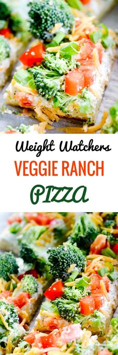 Weight Watchers Veggie Ranch Pizza - only 4 smart points per slice! - Recipe Diaries