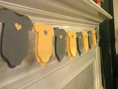 Gray and Yellow Baby shower onesie napkins or banner by wrapsidazy, $31.60