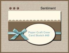 paper Craft Crew card sketch #48