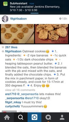 Oatmeal Cookies by #fitgirlisabon