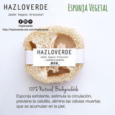 HAZLOVERDE / Jabón Vegano Artesanal + Esponja Vegetal. Pedidos: hazloverde@gmail.com
