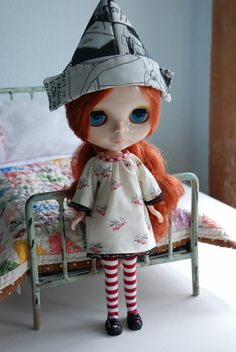 Simple Peasant Dress for Blythe