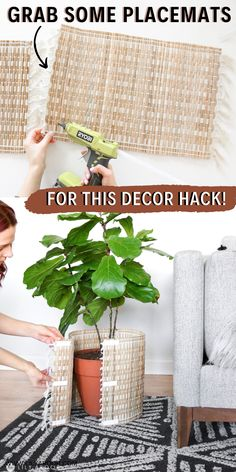With this Ugly Pot HACK you'll have pretty planters in minutes! 3 ways to Transform your ugly plastic pots in minutes! ON A BUDGET? This easy hack only. Plastic Planters, Diy Planters, Basket Planters, Succulent Planters, Succulents Garden, Hanging Planters, Cactus Plants, Diy Plant Stand, Outdoor Plant Stands