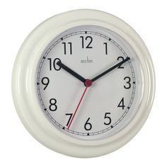 Acctim Stratford Clock White: Amazon.co.uk: Kitchen & Home 7.51 Stock Research, Clock, Amazon, Wall, Kitchen, Home Decor, Watch, Cooking, Decoration Home