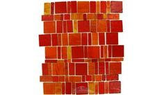 Vicenza Mosaico Glass Tiles | TRE-LIBTIF-F | Rosso | Tile > Glass Tile