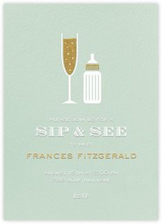 Sip & See icons - Paperless Post-Such a cute idea instead of a baby shower for #2