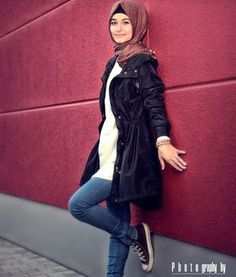 Latest Trends of Casual Wear Hijab Styles with Jeans 2016-2017 (28)