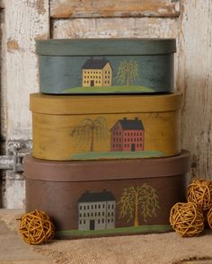 BJ'S Country Charm offers a nice selection of Primitive Decor, Primitive Home Decor for your home. If you love Primitive Decorative then you have come to the right place.We offer Primitive Nesting Boxes, Primitive Tissue Box Covers & more! Primitive Homes, Primitive Kitchen, Primitive Folk Art, Primitive Crafts, Country Primitive, Country Crafts, Country Decor, Primitive Painting, Saltbox Houses