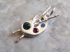 Sterling Palette Charm Pendant Jezlaine Artist by cutterstone, $18.00