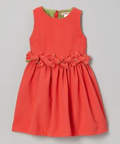 Take a look at this Watermelon Gathered Waist Dress - Toddler & Girls by Paulinie on #zulily today!