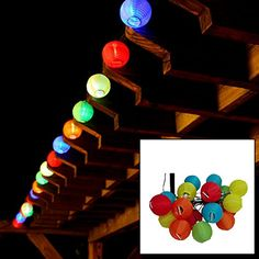 [Cyber Monday Sale]LiteXim Led String Light Waterproof Solar Christmas Lights 19.68ft 6m 30 LED 2 Modes Chinese Lantern Solar String Lights for Outdoor, Gardens, Homes, Wedding, Christmas Party(RGB) -- Read more @