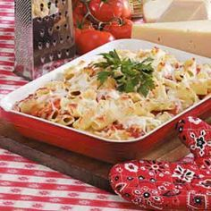 Baked Ziti Casserole (add some veggies)