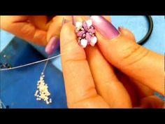 DIY tutorial modulo superduo o twin beads swarovski semplice,veloce Italian and English - YouTube