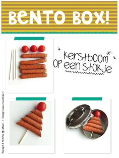 kerstboom voor in de idea xmas for bento on www. Food Art For Kids, Cooking With Kids, Food Kids, Bento Recipes, Lunch Box Recipes, Christmas Lunch, Christmas Desserts, Ny Food, Creative Food Art