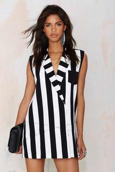 One Teaspoon Le Player Tuxedo Dress