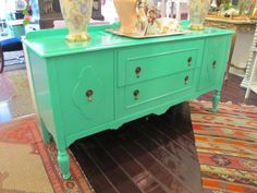 Lacquered Emerald Buffet $600 - Chicago http://furnishly.com/catalog/product/view/id/3003/s/lacquered-emerald-buffet/