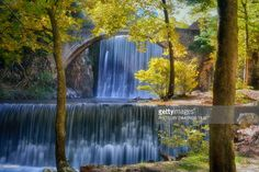 Palaiokarya's Stone bridge and two artificial falls