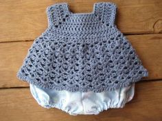 Blue Crochet Top pattern....this lady has crocheted this from a dress pattern. think this would be perfect with my diaper cover must make asap.