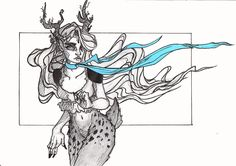 #deerfaun #characterdesign #girlsketch #occonceptart