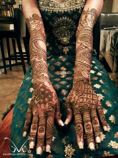 Mehndi Maharani 2013 Finalist: KM Henna Artistry http://maharaniweddings.com/gallery/photo/13796