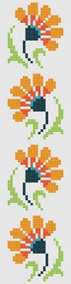 cross stitch flowers pattern as quilt inspiration. Cross Stitch Bookmarks, Cross Stitch Borders, Cross Stitch Flowers, Cross Stitch Designs, Cross Stitching, Cross Stitch Embroidery, Cross Stitch Patterns, Loom Beading, Beading Patterns