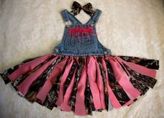 Shabby Camo Bib Overall Tutu with Bling  Hot Pink by cd1ofakind