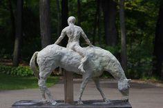 Horse & rider by Richard Merchán Garden Sculpture, Lion Sculpture, Horses, Statue, Outdoor Decor, Artist, Horse, Sculptures, Artists