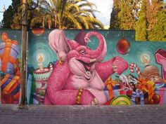 Awesome pink elephant by Duke 103 from Valencia, Spain