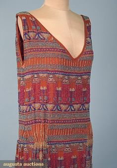d913a54d71e9f Egyptian Revival flapper dress 1920s 30s Fashion