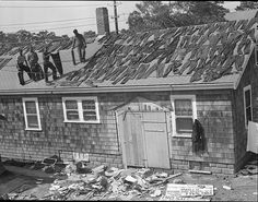 Drying out clothes after Hurricane of 38 (by Boston Public Library)  Leslie Jones