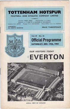 Programme - Tottenham Hotspur v Everton, 1964/65 season