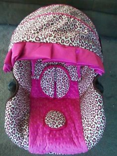 Graco Snugride Leopard brown and hot pink infant car by BABYSEAMS, $109.99  This is even better than the other ones
