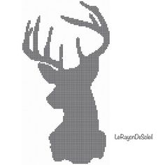 Modern Cross stitch pattern deer to the left by LeRayonDeSoleil