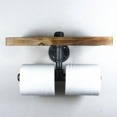 Golf Clubs Repurposed Urban Industrial Iron Pipe Wall Mount Double Toilet Paper Holder With Wood Shelf Industrial Toilets, Industrial Irons, Urban Industrial, Industrial Style, Industrial Lamps, Industrial Bathroom Lighting, Industrial Pipe Shelves, Rustic Industrial Decor, Do It Yourself Vintage
