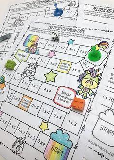 Math Multiplication Games, Multiplication And Division, Math Fractions, Maths, Teaching Math, Free Math Games, Math Graphic Organizers, Homeschool Math, Homeschooling